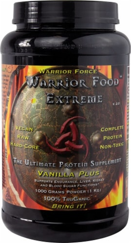 Warrior Force Warrior Food™ The Ultimate Protein Supplement - Vanilla Perspective: front