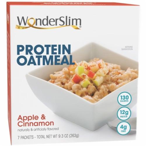 WonderSlim Protein Oatmeal, Apple & Cinnamon (7ct) Perspective: front