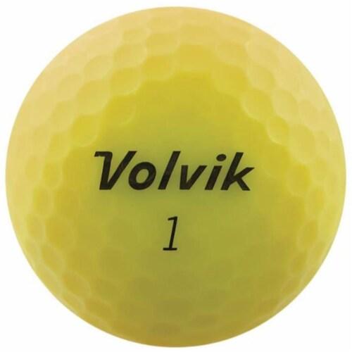Volvik 9529 Volvik 2020 Vivid 3 Pc Golf Balls Matte Yellow Perspective: front