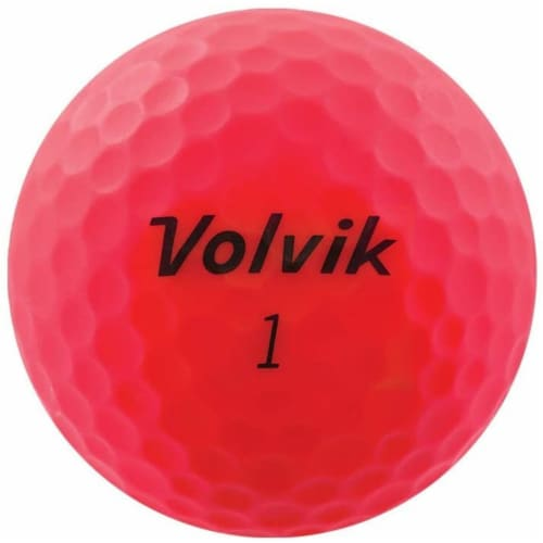 Volvik 9530 Volvik 2020 Vivid 3 Pc Golf Balls Matte Pink Perspective: front