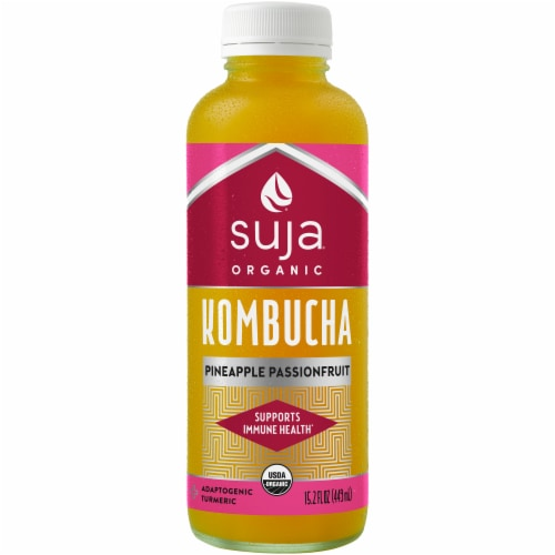 Suja Pineapple Passionfruit Kombucha Perspective: front