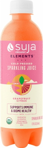Suja Sparkling Grapefruit Citrus Cold-Pressed Juice Perspective: front