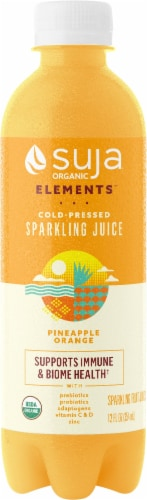 Suja Sparkling Pineapple Orange Cold-Pressed Juice Perspective: front