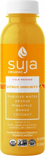 Suja Organic Citrus Immunity Cold-Pressed Juice Perspective: front