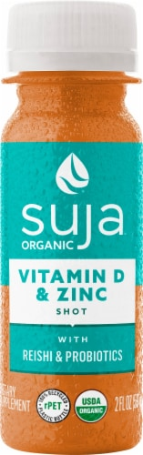 Suja Vitamin D and Zinc Shots Perspective: front