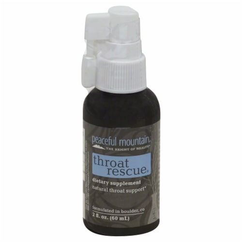 Peaceful Mountain Throat Rescue Spray Perspective: front
