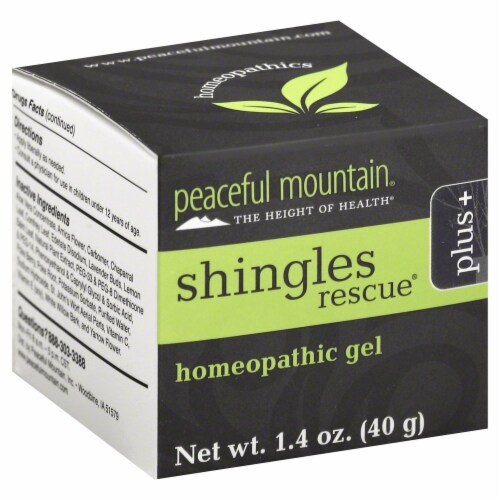Peaceful Mountain Shingles Rescue Plus Homeopathic Gel Perspective: front