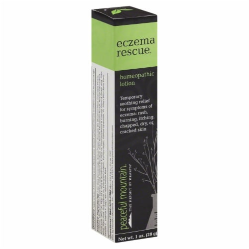 Peaceful Mountain Eczema Rescue Homeopathic Lotion Perspective: front
