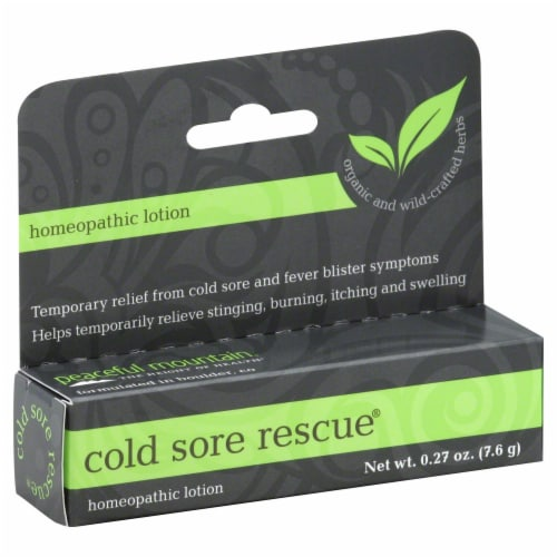 Peaceful Mountain Cold Sore Rescue Topical Gel Perspective: front