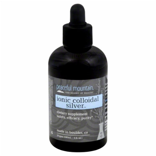 Peaceful Mountain Ionic Colloidal Silver Dietary Supplement Perspective: front