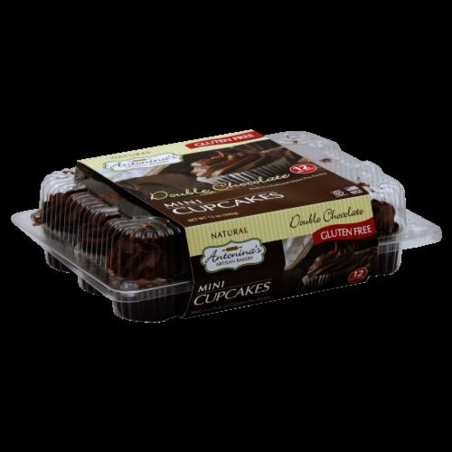 Antonina's Artisan Bakery Gluten Free Double Chocolate Mini Cupcakes Perspective: front