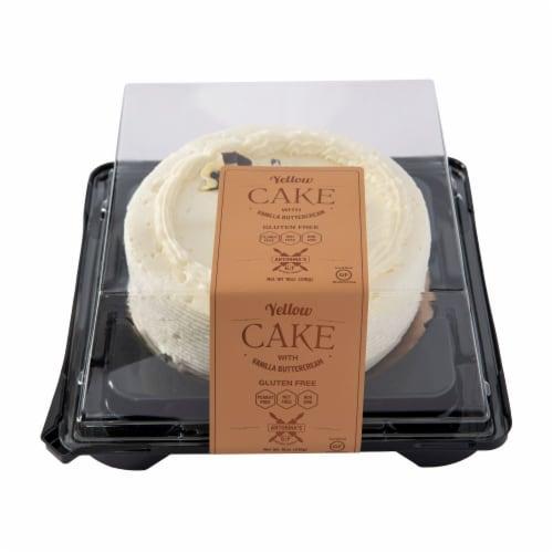 Antonina's Artisan Bakery Gluten Free Yellow Single Layer Cake Perspective: front