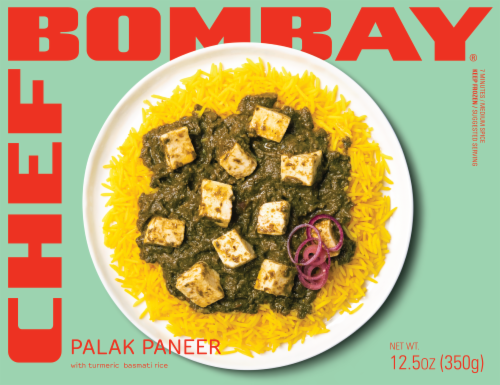 Chef Bombay Palak Paneer with Turmeric Rice Perspective: front