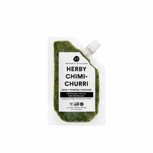 Haven's Kitchen Herby Chimichurri Sauce Perspective: front
