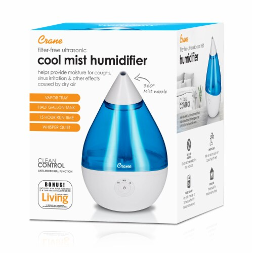 Crane Filter-Free Ultrasonic Cool Mist Humidifier Perspective: front