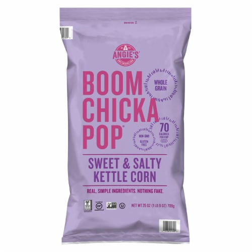 Angie's Boom Chicka Pop Sweet and Salty Kettle Corn (25 Ounce) Perspective: front