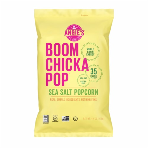 Angie's Boom Chicka Pop Sea Salt Popcorn Perspective: front