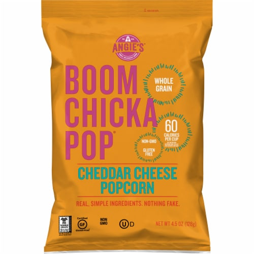 Angie's BOOMCHICKAPOP Cheddar Cheese Popcorn Perspective: front