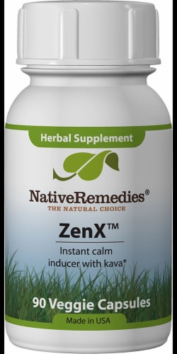 Native Remedies ZenX Vegetarian Capsules Perspective: front