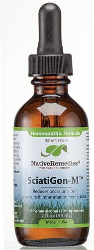 Native Remedies SciatiGon-M™ Homeopathic Formula Perspective: front