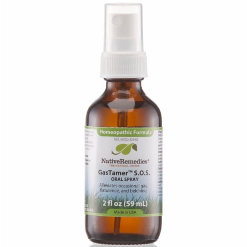 Native Remedies Gas Tamer S.O.S Oral Spray Perspective: front