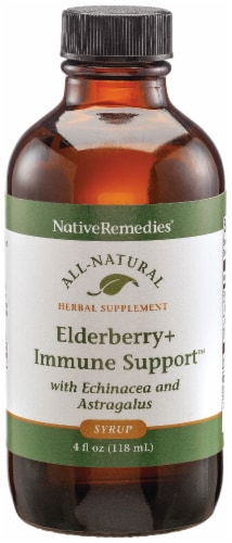 Native Remedies Elderberry+ Immune Support Syrup Perspective: front