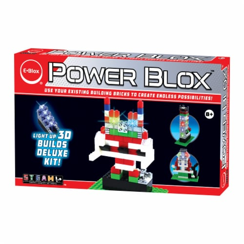 E-Blox Power Blox LED 3D Building Set Perspective: front
