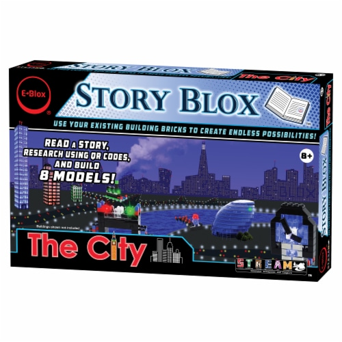E-Blox The City Story Blox Building Set Perspective: front