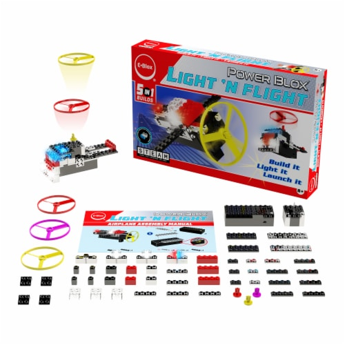 E-Blox Power Blox Light 'N Flight Building Toy Perspective: front