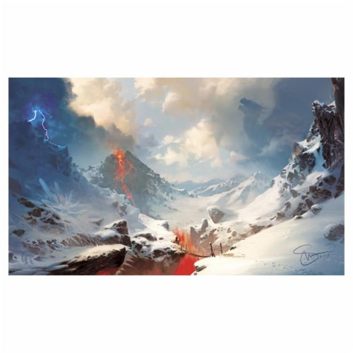 Legion Supplies LGNPLM144 Play Mat Lands Mountains Card Accessories Perspective: front
