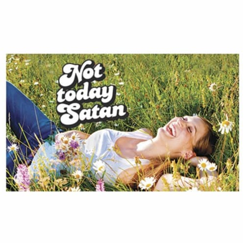 Legion Supplies LGNPLM091 Play Mat Not Today Satan Card Accessories Perspective: front