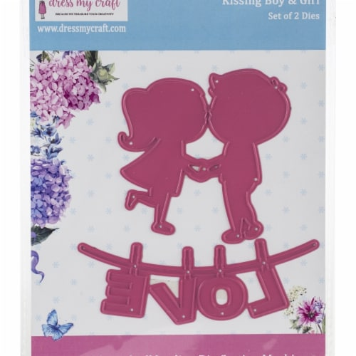 Dress My Craft DMCD2200 Dies - Kissing Boy & Girl Perspective: front
