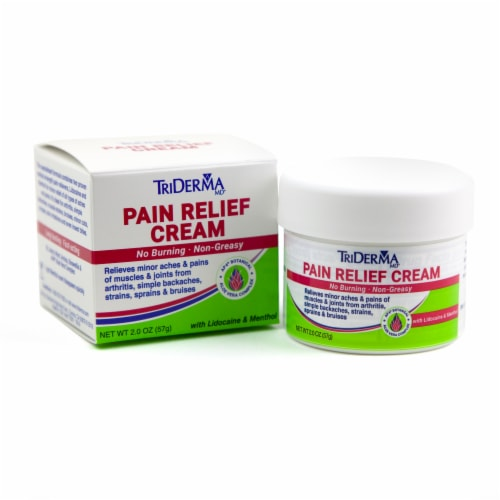 TriDerma Pain Relief Cream Perspective: front
