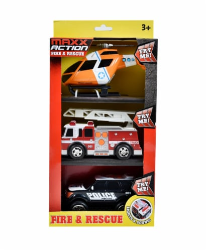 Sunny Days Maxx Action Rescue Vehicles 3 Pack Perspective: front