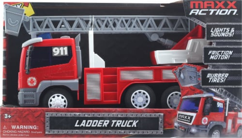 Maxx Action Realistic Lights and Sounds Trucks - Fire and Rescue Series Perspective: front