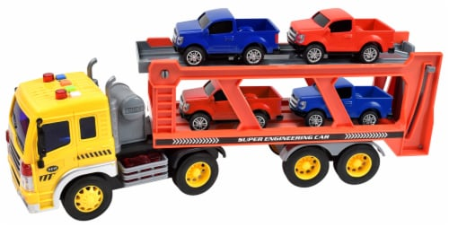 Sunny Days Maxx Action Trucks Long Haul Vehicle Transportation Playset Perspective: front