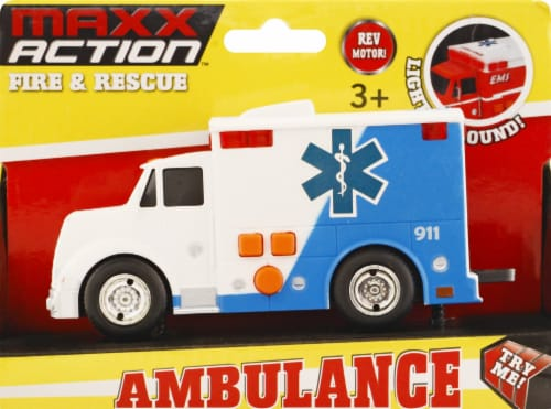 Maxx Action Rescue Ambulance Perspective: front