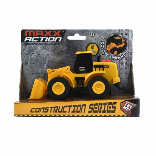 Maxx Action Mini Construction Series Vehicle Front End Loader Perspective: front