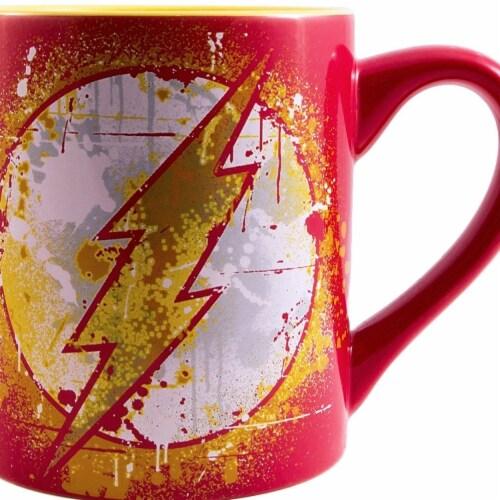 Flash 46789 Flash 14 oz The Paint Splatter Red Mug Perspective: front