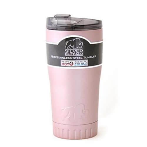 Silver Buffalo 20 oz Stainless Steel Tumbler - Rose Gold Perspective: front