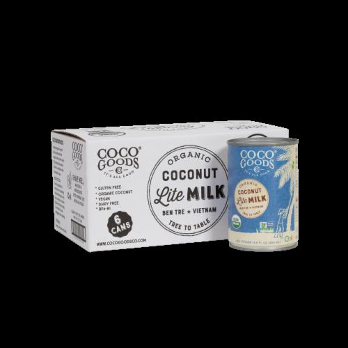 CocoGoods Co Organic Coconut Milk Lite 13.5 fl. oz Perspective: front
