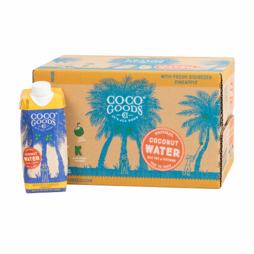 CocoGoods Co Natural Coconut Water with Pineapple Juice 16.9 fl. oz Perspective: front
