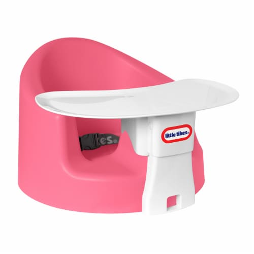 Little Tikes My First Seat Infant Foam Floor Chair with Feed and Play Tray, Pink Perspective: front