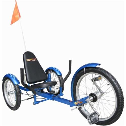 Triton Pro Tri-501BL Ultimate Three-Wheeled Cruiser - Blue Perspective: front