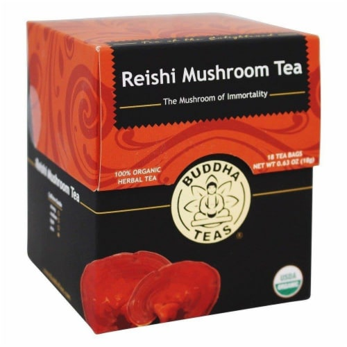 Buddha Teas Organic Reishi Mushroom Tea Perspective: front