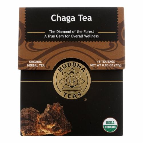 Buddha Teas Organic Chaga Herbal Tea Perspective: front