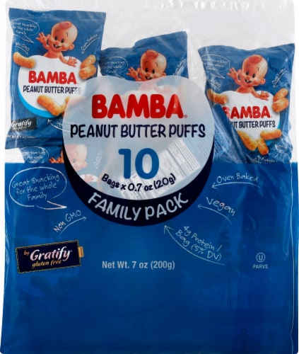 Gratify Bamba Peanut Butter Puffs Perspective: front