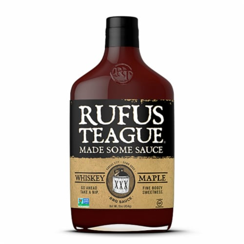 Rufus Teague Whiskey Maple BBQ Sauce Perspective: front