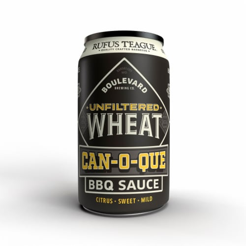 Rufus Teague Can-O-Que Barbeque Sauce - Boulevard Wheat Perspective: front