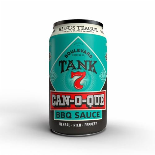 Rufus Teague Can-O-Que Barbeque Sauce - Boulevard Tank 7 Perspective: front